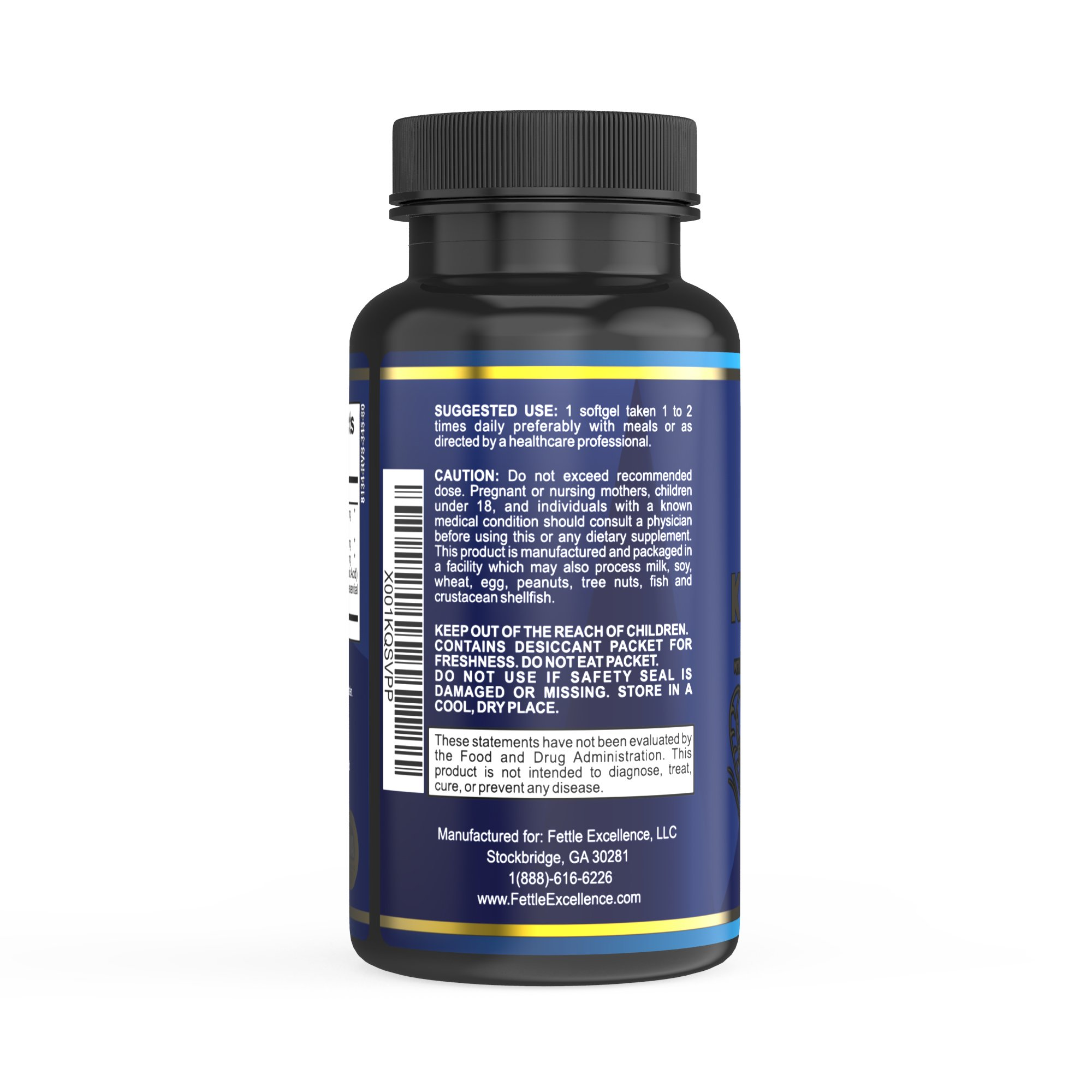 Premium Krill Oil Supplement with EPA/DHA by Fettle Excellence, Astaxanthin, Memory & Mood Enhancer, Boosts Energy, Fights Inflammation, Supports Healthy Joints and Cardiovascular Health, 60 softgels by Fettle Excellence (Image #3)