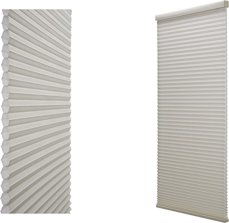 Decor Avenue Custom Cordless 32 W x 54 to 60 H Seashell Light Filtering Cellular Shade Outside Mount