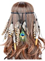 Womens Fashion Retro Fascinator with Sequin and Feather