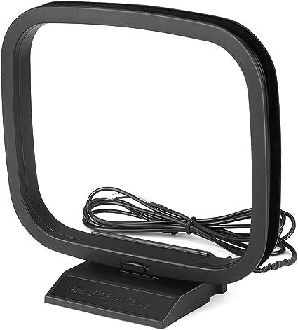 TNP Antena de Bucle Am de 2 Pines con Cable Desnudo para Receptor de Sonido de Radio estéreo de Mesa para el Hogar, Yamaha, Onkyo, Denon (5 pies ...