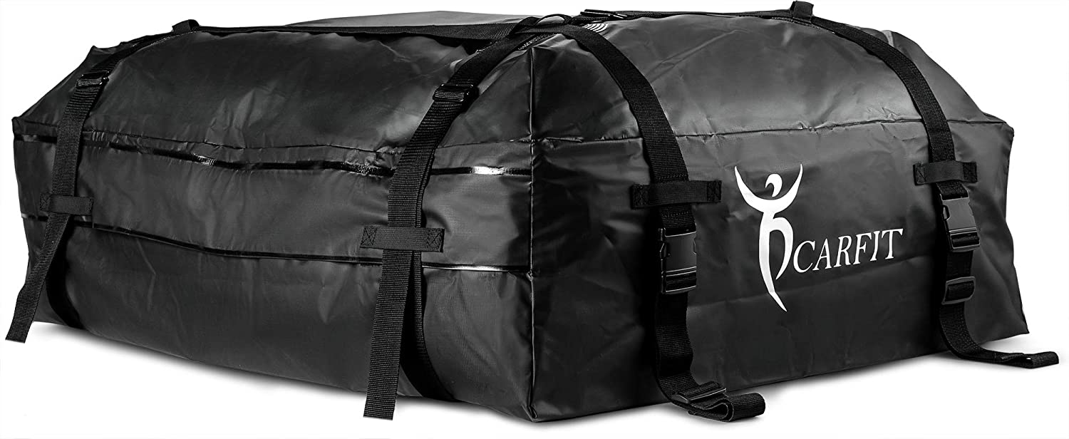 Car Roof Bag Bundle- 100/% Waterproof Roof Top Cargo Bag NO RACK NEEDED For Any Car Van or SUV Non Slip Roof Mat /& Storage bag 15 Cubic Feet Whistler 4347628396