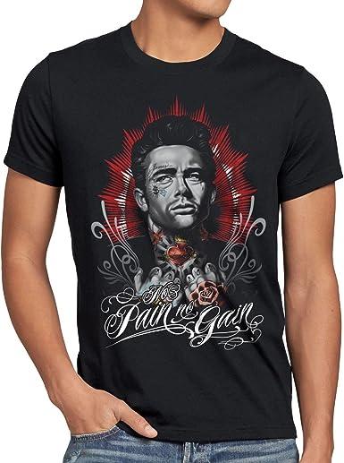style3 Dean Tatuaje Camiseta para Hombre T-Shirt James Rock tatuarse Biker Estados Unidos: Amazon.es: Ropa y accesorios