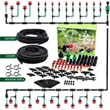Jepeux Drip Irrigation Kit, with Stainless Steel Clamp and Thick Tube Garden Irrigation Systems. Firmer Connector and More St