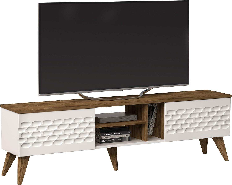 Decorotika Eggea - Mueble Moderno para televisores de hasta 70 Pulgadas con armarios Cerrados y estantes Abiertos: Amazon.es: Juguetes y juegos