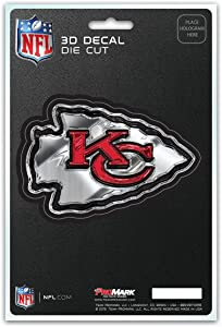 FANMATS NFL - Kansas City Chiefs 3D Team Logo Decal, Red, One Size
