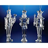 """Club Pack of 12 Icy Crystal Decorative Christmas Nutcracker Ornaments 5.5"""""""