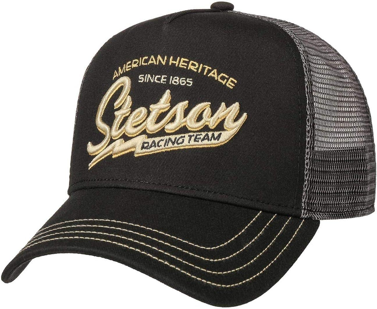 Stetson Gorra Trucker Racing Team Hombre - de Baseball Malla Beisbol Snapback, con Visera, Visera Verano/Invierno