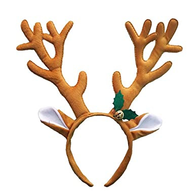 9a1a2cbc68f8b dragonaur Christmas Hat Deer Antlers Headband Kids Adults Xmas Party  Headwear Hair Band  Amazon.co.uk  Clothing