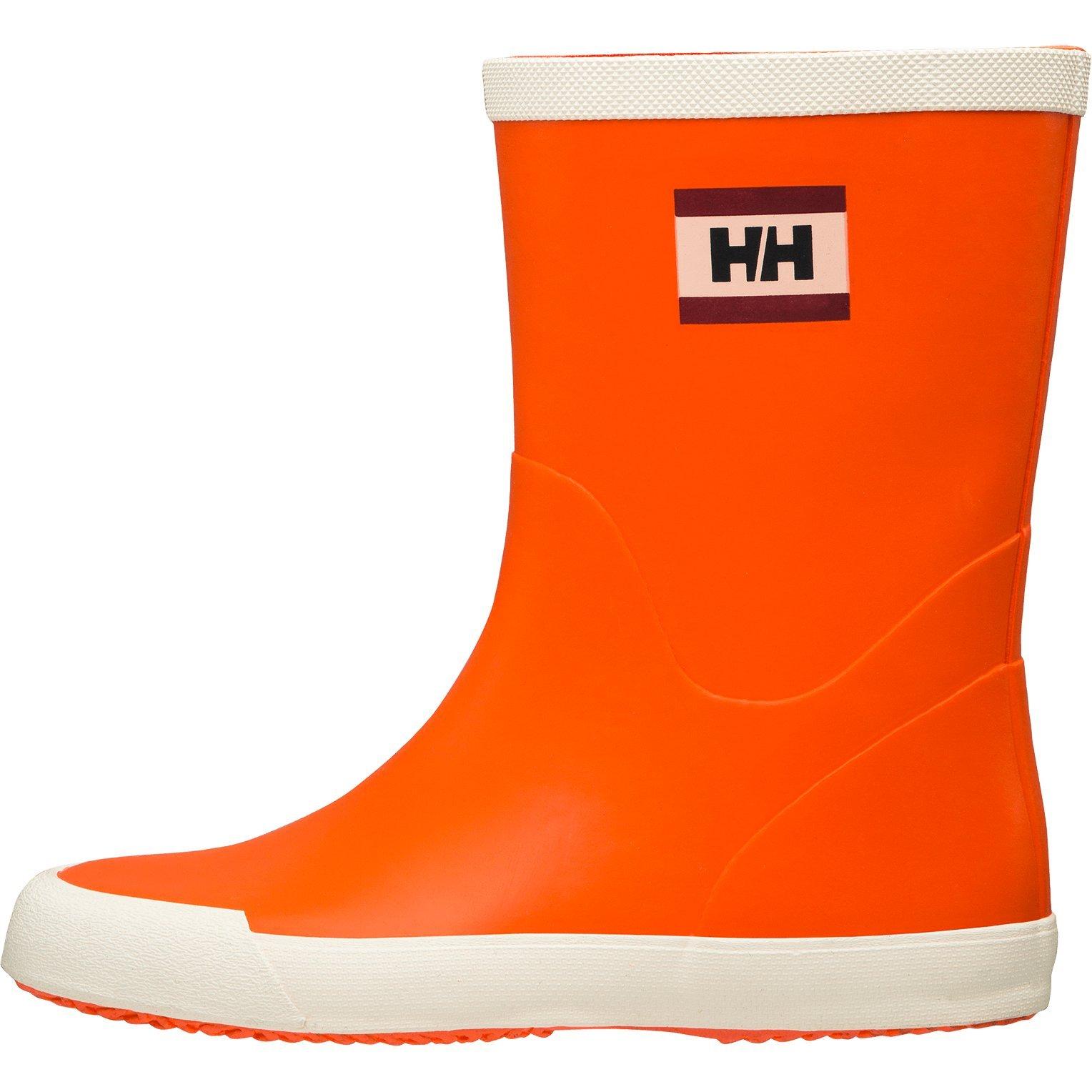 Helly Hansen Women's Nordvik Rain Boots, Pumpkin/Off White (Matte), 10