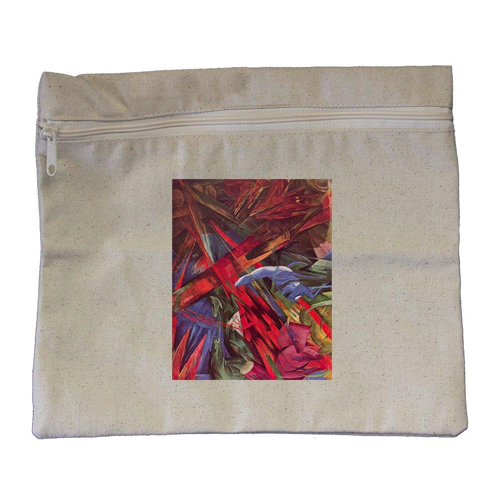 Animal Fates (Franz Marc) Canvas Zippered Pouch Makeup Bag