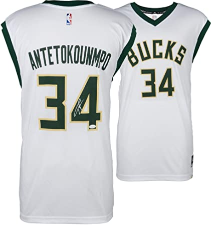 cc51a8ad5e31 Giannis Antetokounmpo Milwaukee Bucks Autographed Adidas White Replica  Jersey - Fanatics Authentic Certified