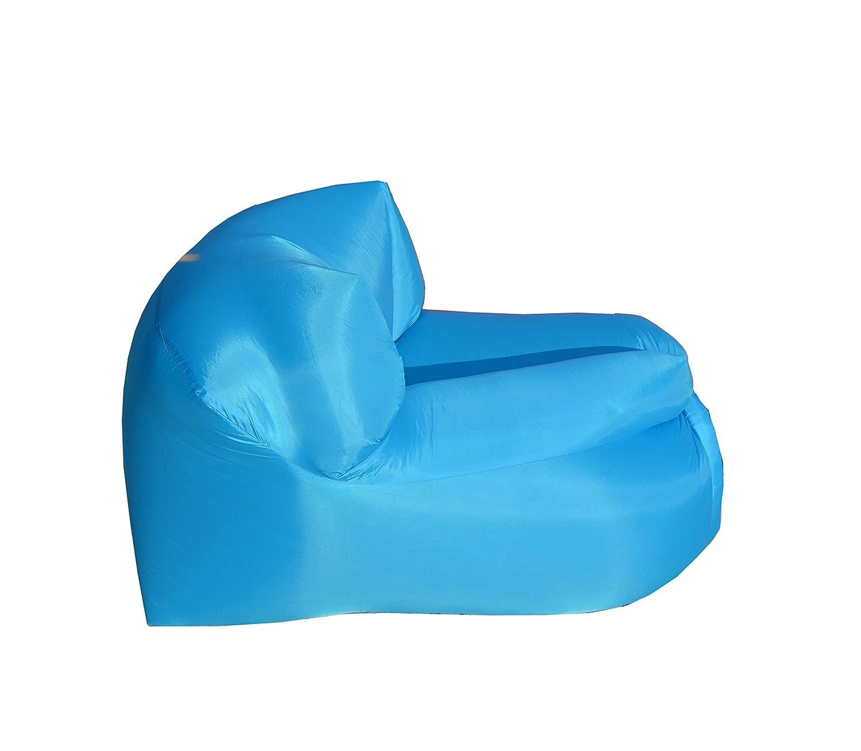 Bleu Ciel Fauteuil Gonflable /à Air Temps Libre cm.80X70X56 POLTRONA Smart beachart Smart