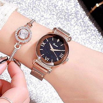 EJOLG Reloj Mujer Moda, Malla Milanesa Correa de Reloj,Relojes Mujer Digital,Yellow: Amazon.es: Deportes y aire libre