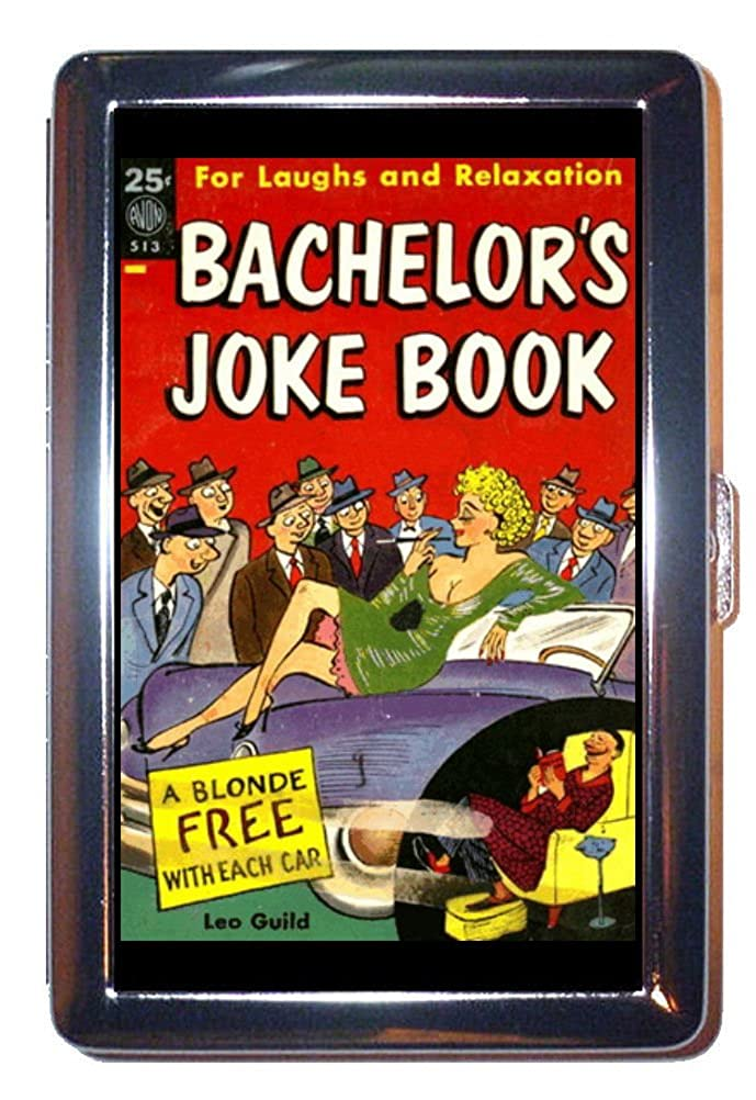 1950年代セクシーB。A joke bookステンレススチールIDまたはCigarettesケース( Kingサイズまたは100 mm )   B00NZFGV96