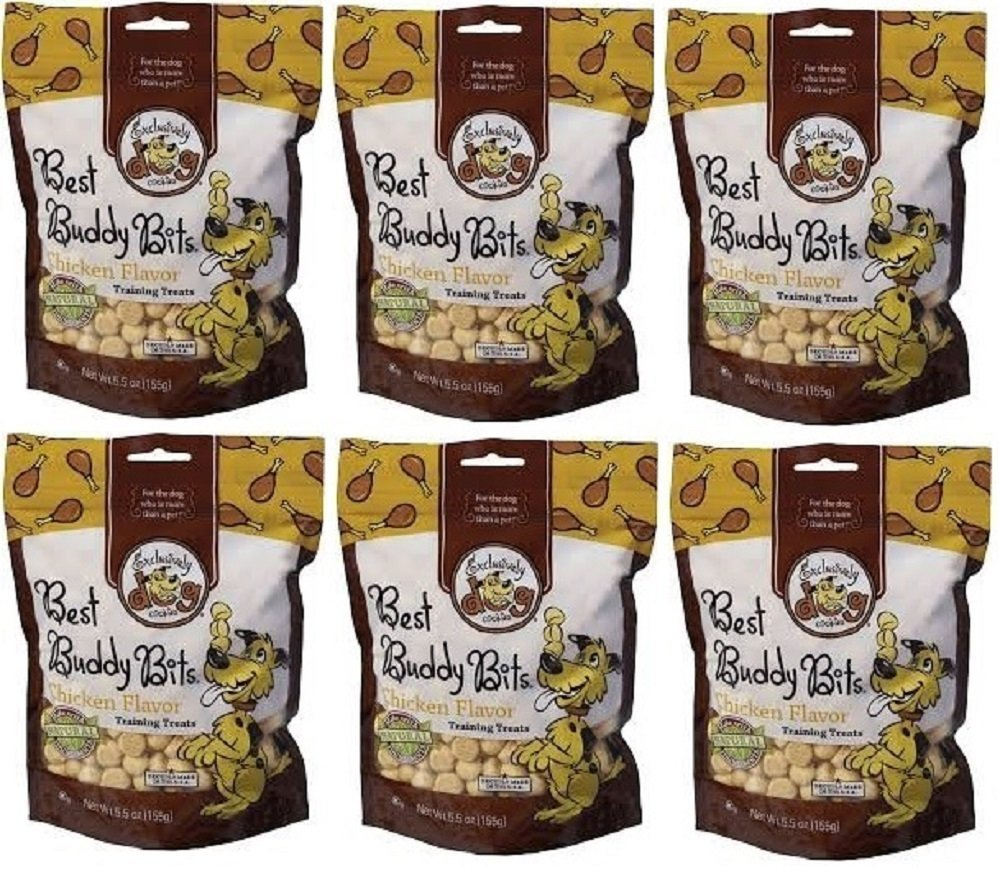 Exclusively Dog Big 6 Pooch Pack- Best Buddy Bits, Flavor Chicken Size 5.5 Ounce