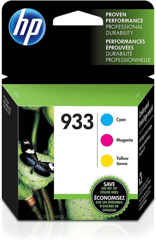HP 933   3 Ink Cartridges   Cyan, Magenta, Yellow   CN058AN, CN059AN,CN060AN