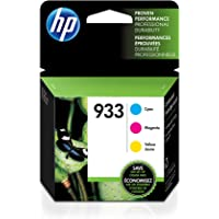 HP 933 | 3 Ink Cartridges | Cyan, Magenta, Yellow | CN058AN, CN059AN,CN060AN