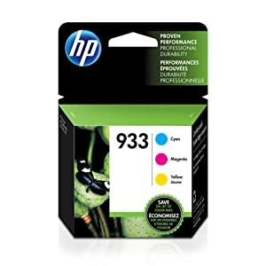 HP 933 | 3 Ink Cartridges | Cyan, Magenta, Yellow | CN058AN, CN059AN,CN060AN