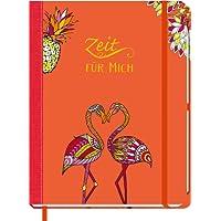 Zeit für mich - Flamingo: Eintragbuch, Tagebuch, Ausmalbuch
