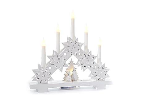 Weihnachtsdeko Schwibbogen.Heitmann Deco Led Lichterbogen Aus Holz Stimmungsleuchter Schwibbogen Beleuchtete Weihnachtsdeko Weiß Für Innen