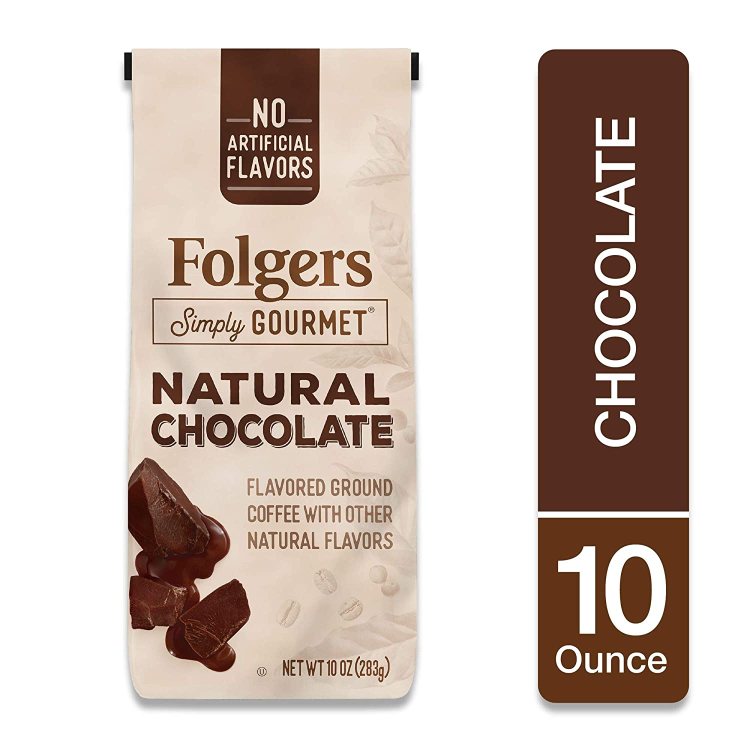 Folgers Simply Gourmet Natural Chocolate Flavored Ground Coffee, 10 Ounces