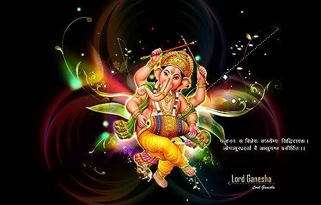 Mahalaxmi Art Dancing Ganesha Widescreen Wallpaper On Fine Art Paper