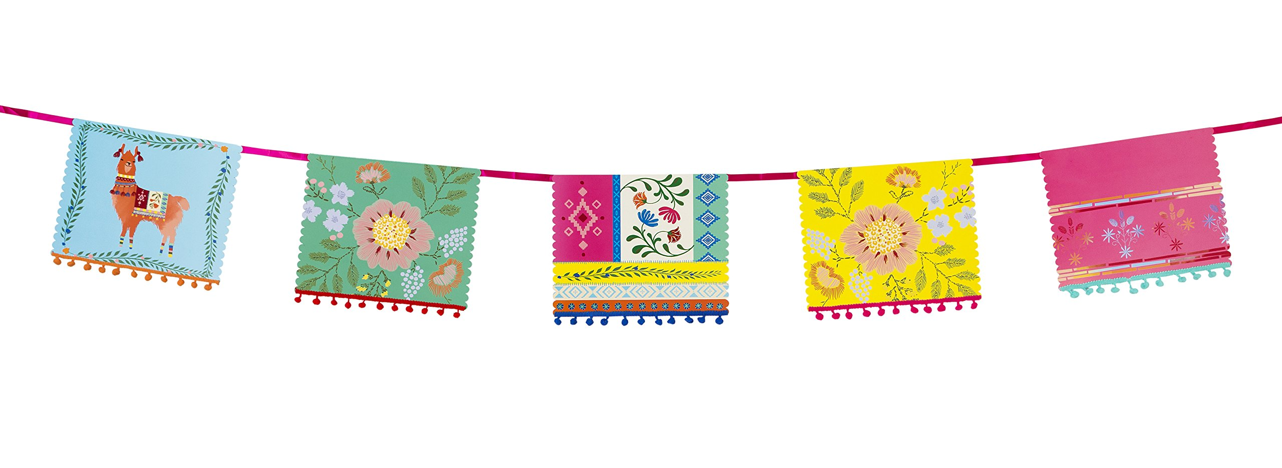 Talking Tables Boho, Hanging Garland, Llama and Floral, Multi-Colour (4m)