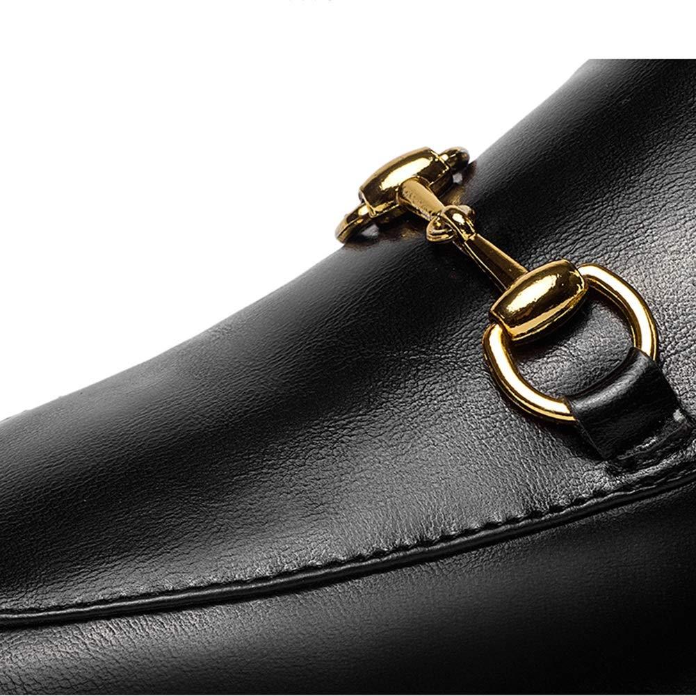 Damenschuhe HWF PU-Leder Frauen PU-Leder HWF Schuhe Loafer Herbst Freizeit britischen Stil Slip-On Wohnungen Schuhe schwarz (Farbe   SCHWARZ größe   35) 8f4469
