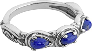 product image for Carolyn Pollack Sterling Silver Gemstone 3 Stone Ring - Choice of Gemstones