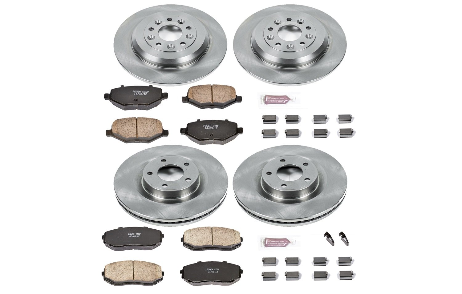 Autospecialty (KOE5452) 1-Click OE Replacement Brake Kit by POWERSTOP (Image #1)