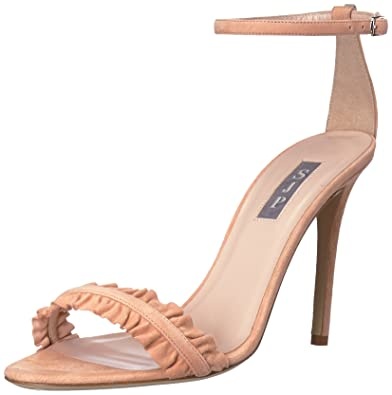 012ba06b2f9 SJP by Sarah Jessica Parker Women s Jessa Heeled Sandal Signature Suede 35  B EU (4.5