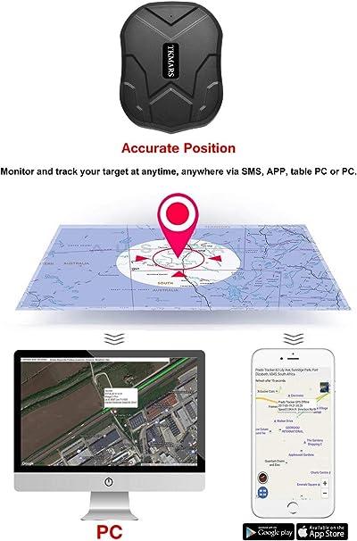 Hangang Coche GPS Tracker Para Vehículos 5000 Mah 90 Días Larga ...