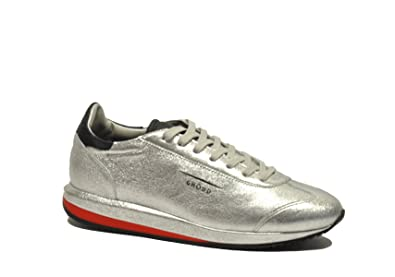 big sale f2b82 c388f GHOUD Herren G01mrlsksilver Silber Leder Sneakers: Amazon.de ...