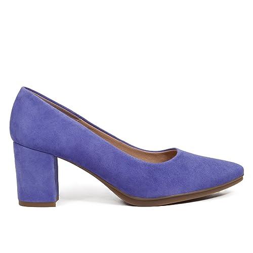 Colección Salon Verano Tacon 2018 Morado Grueso Mujer 6cm Zapato WTw4qCYw