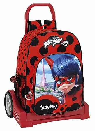 Safta Mochila Espalda Ergonómica Lady Bug Con Carro Safta Evolution: Amazon.es: Equipaje