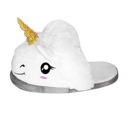 2daa1fffcb6 Amazon.com  Thinkgeek Plush Unicorn Slippers