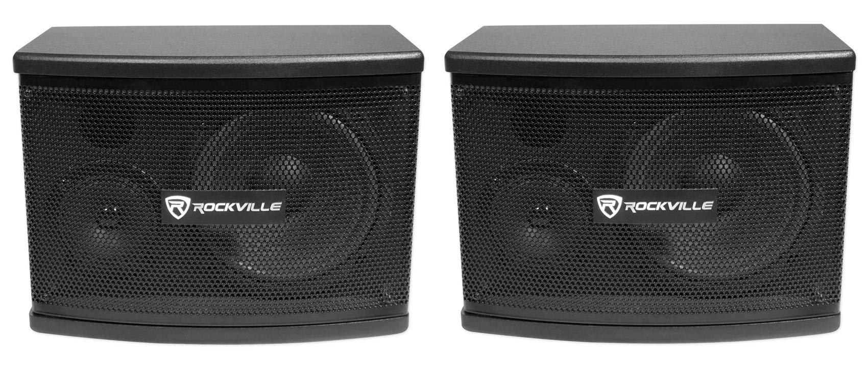 Rockville Pair KPS65 2-Way 400 Watt Karaoke Speakers+Wall Brackets/MDF, Black, 6.5'' (