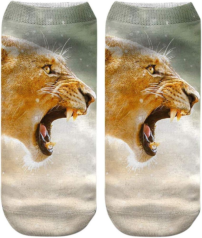 Womens Christmas Socks 3D Santa Claus Print Socks Low Cut Socks