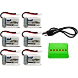 BTG 3.7v 250mah Battery & X6 Battery Charger for Syma X11 X11c Hubsan X4 H107c H107d H107l H108 Ladybird UDI U816a JJRC H22