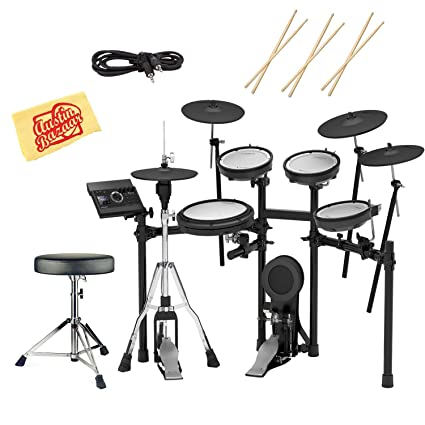 Roland TD-17KVX Electronic Drum Set Bundle with Drum Throne, 3 Pairs