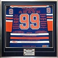 $4230 » Wayne Gretzky Framed Career Jersey - Signed WGA/UDA - LTD /99 - Edmonton Oilers