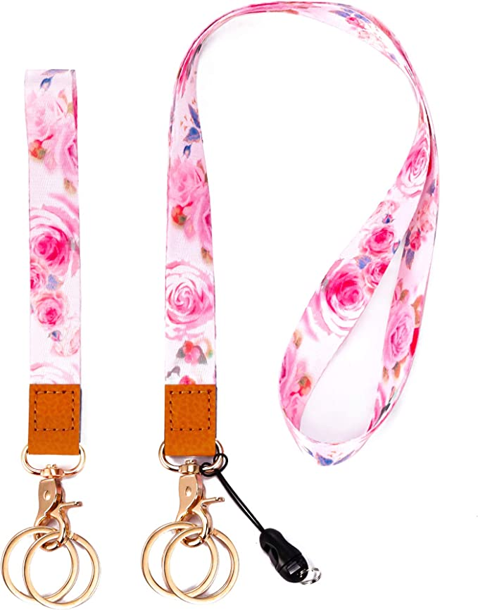 Love Pink Lanyards Detachable Keychain ID Phone Holder 19 Colors Available
