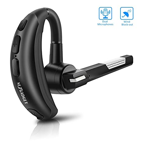 NEXGADGET Auricular Bluetooth 4.2 Manos Libres Bluetooth Auriculares Inalámbrico Headset Bluetooth con Micrófono Integrado Wireless Headphone
