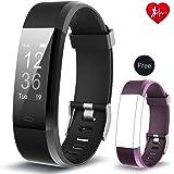 Arbily Fitness Tracker YG3PlUS Herzfrequenz-Monitor Tracker Fitness Armband Smart Armband pulsuhr Aktivität Tracker mit Schlaf-Monitor SchrittZähler für Walking/Running / Cycling mit iOS und Android