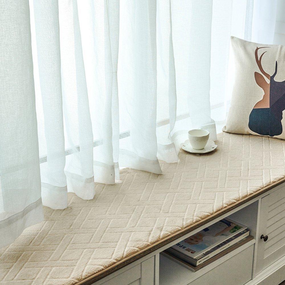 XMZDDZ Thicken Folding Bay window cushion,Non-slip Window pad Window sill Tatami Mat Seat cushion Cover seats Sill Pad-F 60x180cm(24x71inch)
