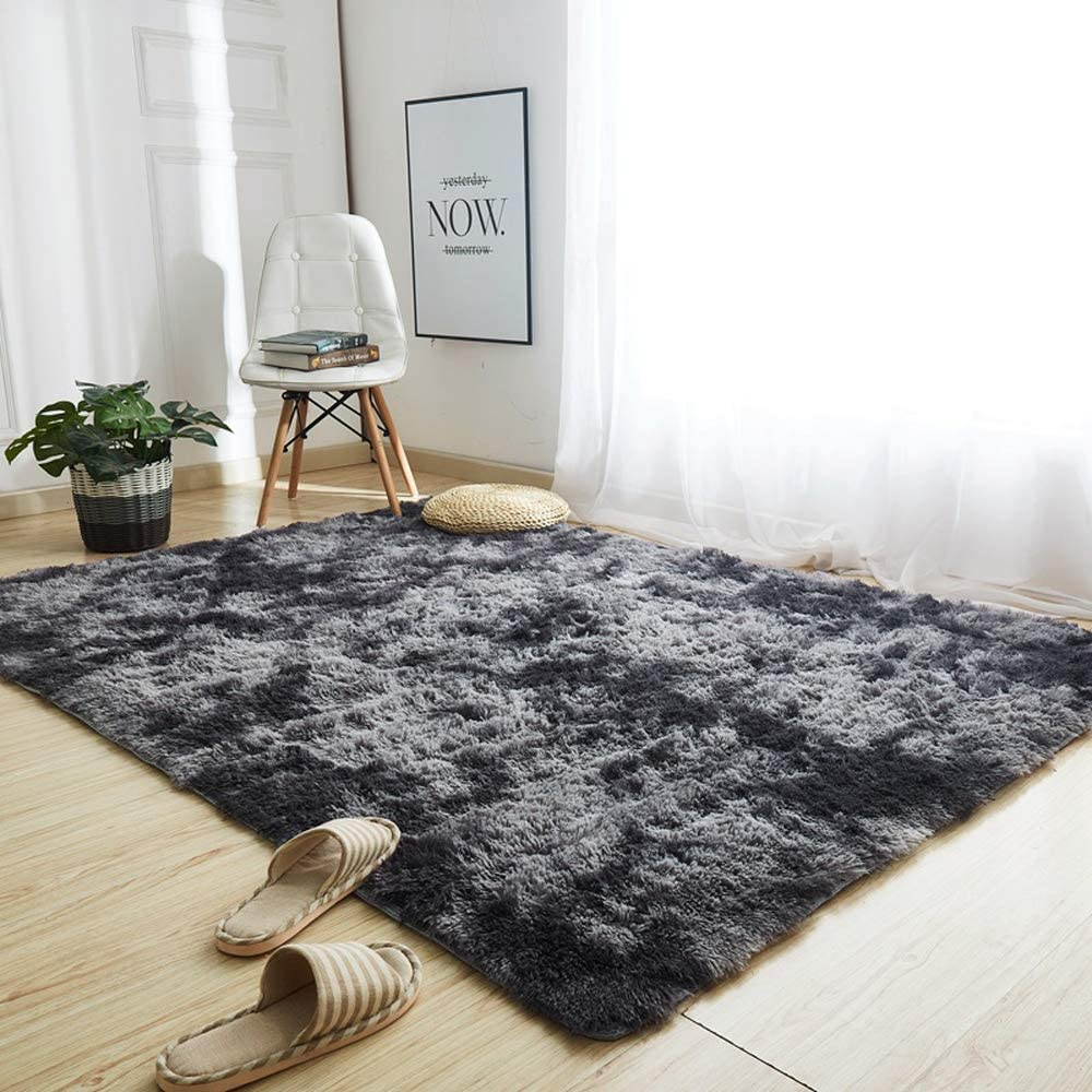 GOOVI Area Rugs Soft Fluffy Modern Home Decor Washable Non-Slip Carpet for Bedroom, Living Room, Boys Room, Girls Room, Play Room (4'0 x 5' 3