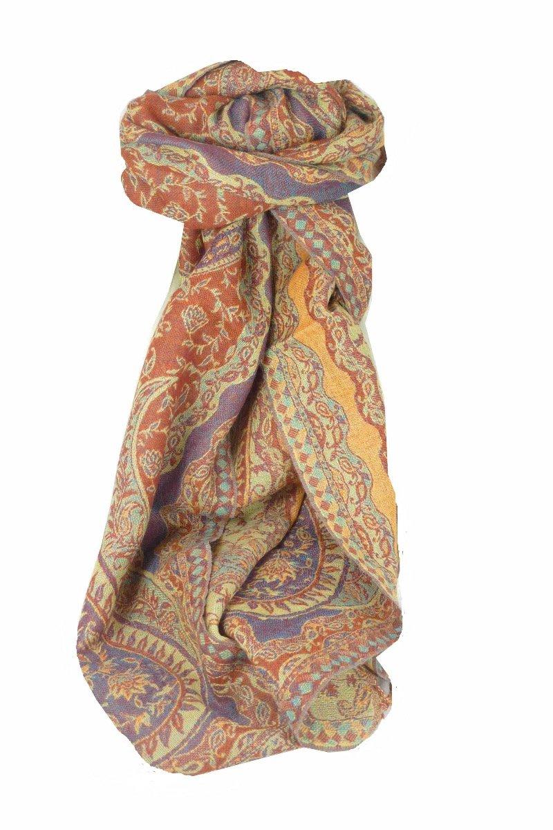Muffler Scarf 9643 in Fine Pashmina Wool Heritage Range by Pashmina & Silk