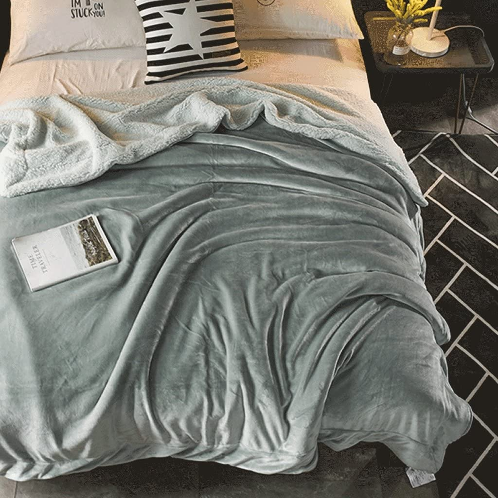 Anti-Kalt-Korallen-Fleece-Decke Winter Klimaanlage Schal Decken Knie warme Decke Office Nap Decken dicke Doppelflanell Bettw/äsche Decken Farbe : Gr/ün , Size : S 59.06in*78.74in MLM420 Classic Solid Color Korallen Samt Decke