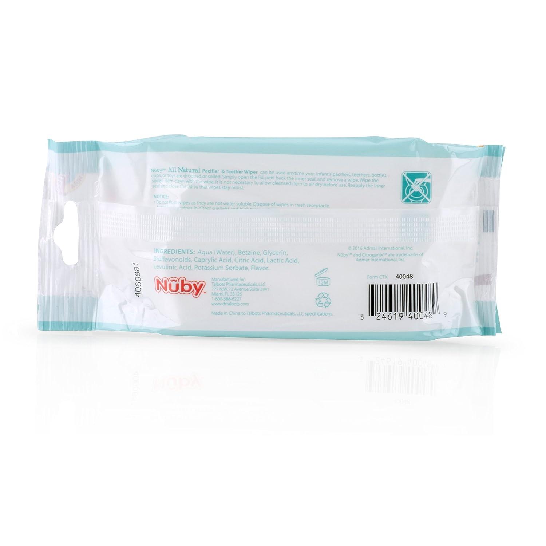Amazon.com: Nuby Toallitas para chupete, leche de vainilla ...