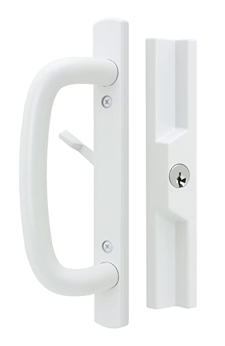 Veranda Sliding Glass Door Handle Set With Mortise Lock White